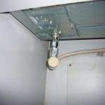 コンロ下部のガス管接続部